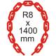Bezpečnostní řetěz Ø 8mm x 1400mm
