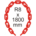 Bezpečnostní řetěz Ø 8mm x 1800mm