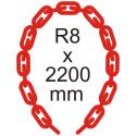 Bezpečnostní řetěz Ø 8mm x 2200mm