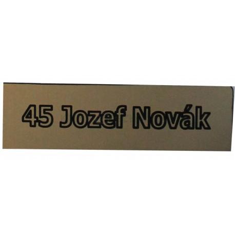 Jmenovka na schránku / Mosaz matná / T