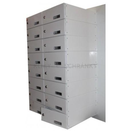 sestava schránek oboustranných pro plastové / Al dveře