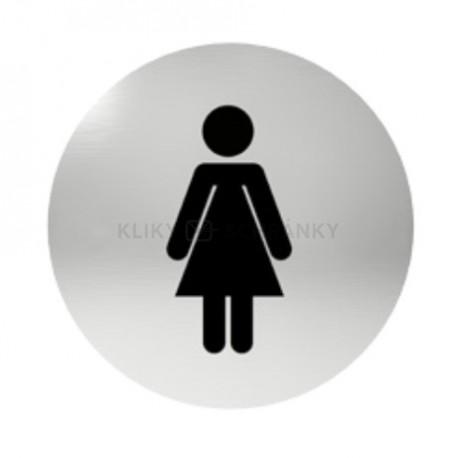 Označení dveří samolepící - WC dámy