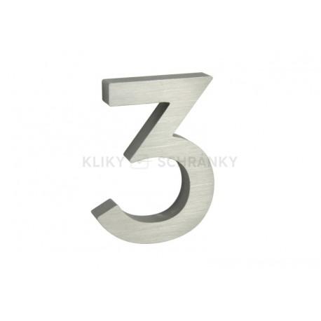 """Číslo """"3"""" 3D 100mm Al"""