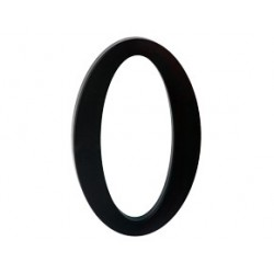 """číslo 175mm černé """"0"""""""