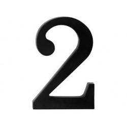 """číslo 175mm černé """"2"""""""