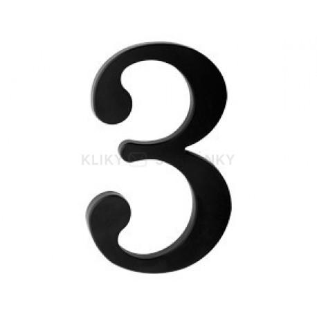 """číslo 175mm černé """"3"""""""
