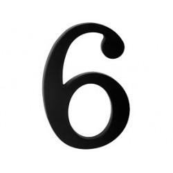 """číslo 175mm černé """"6"""""""
