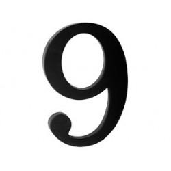 """číslo 175mm černé """"9"""""""