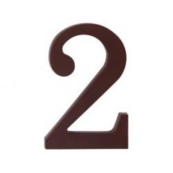 """číslo 175mm hnědé """"2"""""""