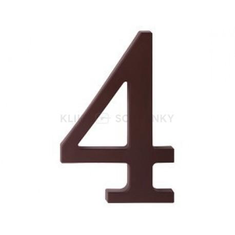 """číslo 175mm hnědé """"4"""""""