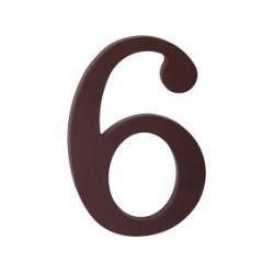 """číslo 175mm hnědé """"6"""""""
