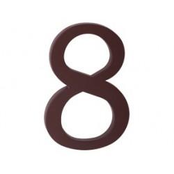 """číslo 175mm hnědé """"8"""""""