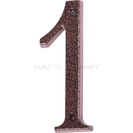 """Číslo """"1"""" měděný antik 120mm"""