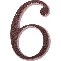 """Číslo """"6"""" měděný antik 120mm"""