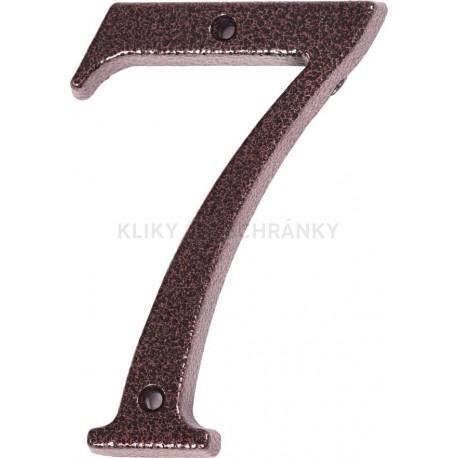 """Číslo """"7"""" měděný antik 120mm"""