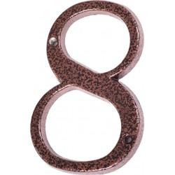 """Číslo """"8"""" měděný antik 120mm"""