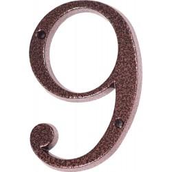 """Číslo """"9"""" měděný antik 120mm"""
