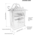 ALAN poštovní schránka