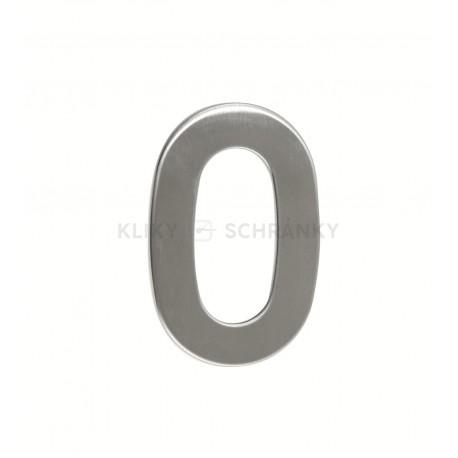 """Číslice """"0"""" 95mm nerez"""