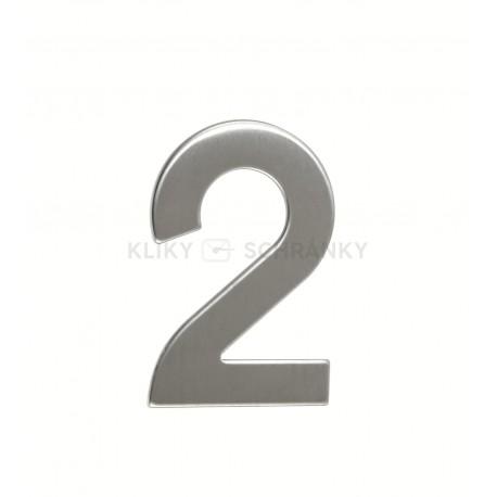 """Číslo """"2"""" 95mm nerez"""