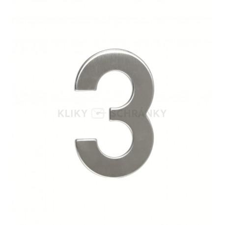 """Číslo """"3"""" 95mm nerez"""