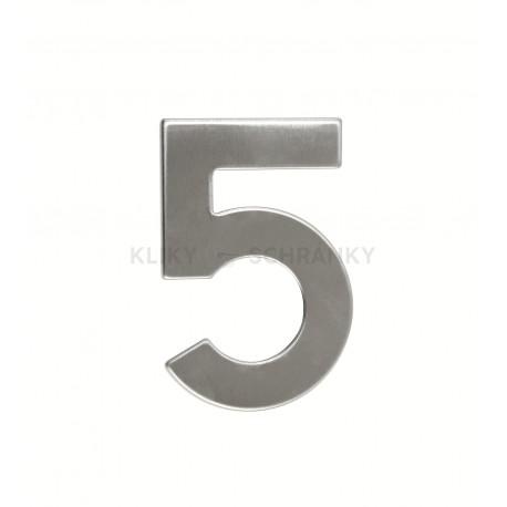 """Číslo """"5"""" 95mm nerez"""