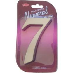 "číslo 125mm nikl satén ""7"""