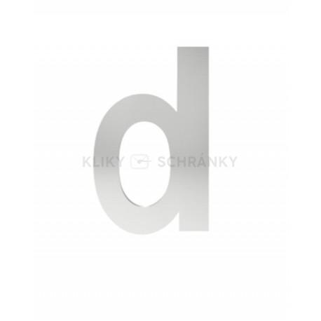 """písmeno """"d"""" 155mm nerez"""