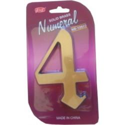 """číslo 125mm bronz """"4"""""""