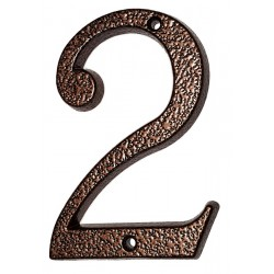 """Číslo """"2"""" měděný antik 120mm"""