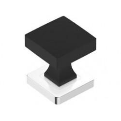 Koule čtvercová černá chrom