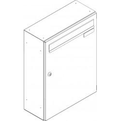 SJ 260/330 poštovní schránka jednostranná RAL