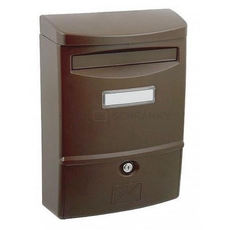 ABS 2 hnědá poštovní schránka plast