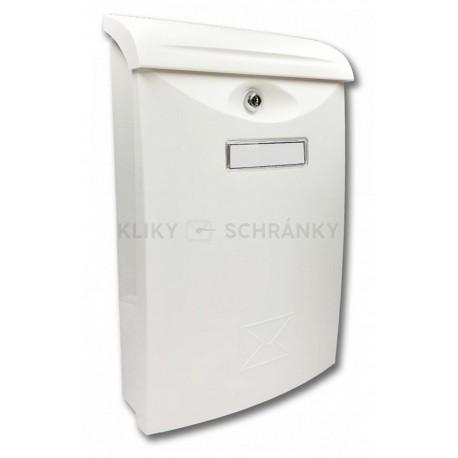 ABS III bílá poštovní schránka plast