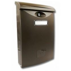 ABS III hnědá poštovní schránka plast
