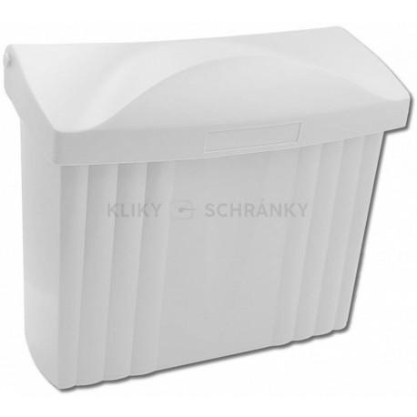 PH ležatá poštovní schránka bílá