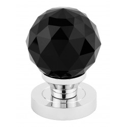CRYSTAL koule s kulatým štítem černá