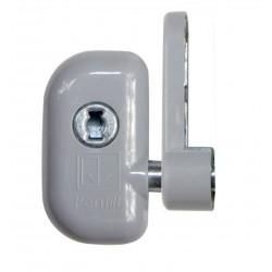 RHL VZ RAL 9006 S okenní zámek stříbrný