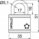 RV.APOLLO.35 visací zámek