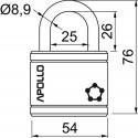 RV.APOLLO.54 visací zámek