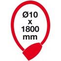 RL.572 10x1800.CRN lankový zámek s LED klíčem