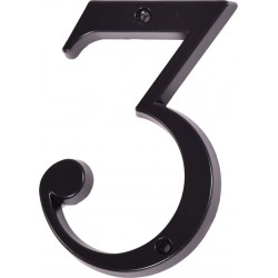 """Číslo """"3"""" černé 120mm"""