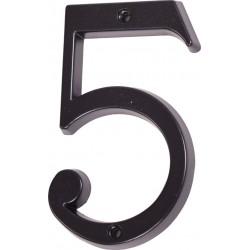 """Číslo """"5"""" černé 120mm"""