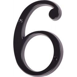 """Číslo """"6"""" černé 120mm"""