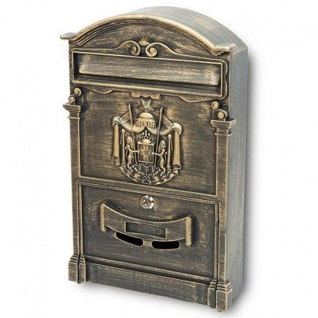 BK301 poštovní schránka zlatý antik