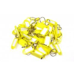Plastová visačka jednostranná / sada 50ks žlutá / RJ.48.ZLU.50KS