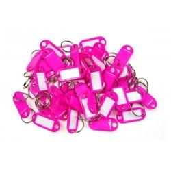 Plastová visačka jednostranná / sada 50ks růžová / RJ.48.RUZ.50KS