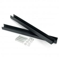 Montážní držák na schránky 13 - 18cm černý