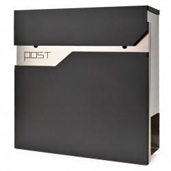 D3692 poštovní schránka černá + nerez