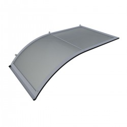 Stříška nad dveře oblouková jednostranná průhledná 160x75x75cm